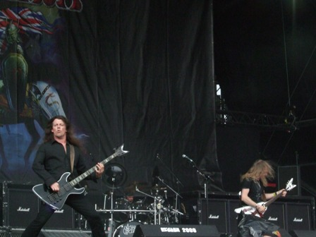 Nibbs and Doug from Saxon live at Graspop Festival, Belgium, June 2008