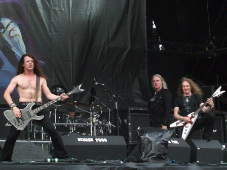 Biff, Nibbs and Doug from Saxon live at Graspop Festival, Belgium, June 2008