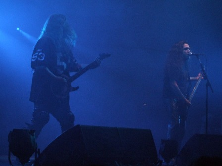 Jeff Hanneman and Tom Araya of Slayer in Paris, November 11 2008