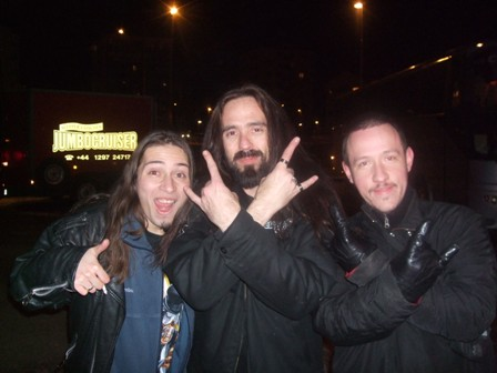 Andy, Greg Christian and Ricardo in Stockholm