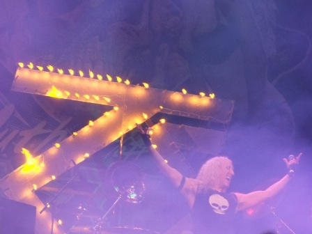 Twisted Sister logo burning in Balingen