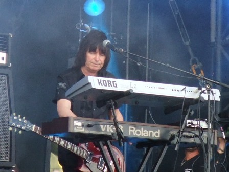 Paul Raymond from U.F.O. playing keyboards live at Wacken Open Air