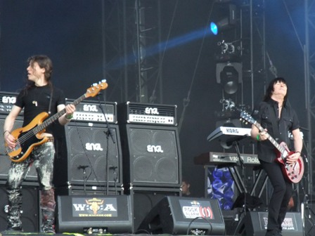 Peta Way and Paul Raymond from U.F.O. live at Wacken Open Air