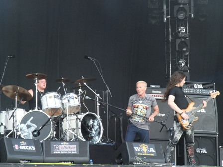 Andy Parker, Phil Mogg and Pete Way with U.F.O. in Wacken