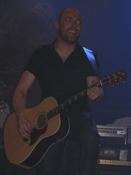 Christian Padersen playing with Volbeat, Antwerpen, Belgium, October 11 2008