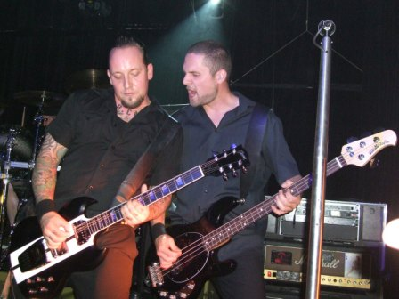 Michael Poulsen and Anders Kjølholm of Volbeat - Live in Paris, France - October 8 2008