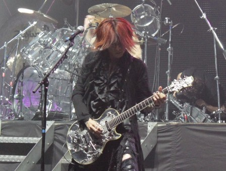 Sugizo on guitars - X Japan live in Paris