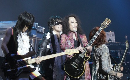 Heath, Toshi, Pata and Sugizo - X Japan live in Paris